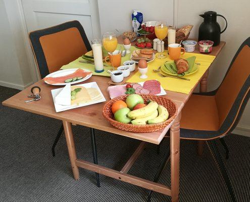 Uitgebreid ontbijt B&B de Padde